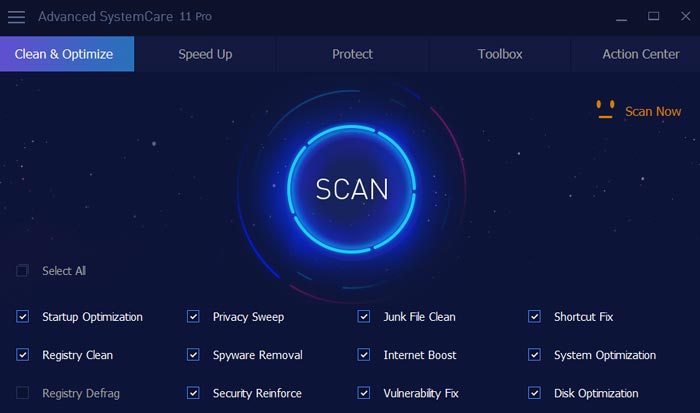Advanced SystemCare Pro 12.4.0 Crack + Serial Key 2019 Download